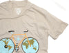 CLOCKWORK GEARS WORLD TRAVELER Men Sm T-Shirt Short Sleeve Cream Cotton Crew NEW
