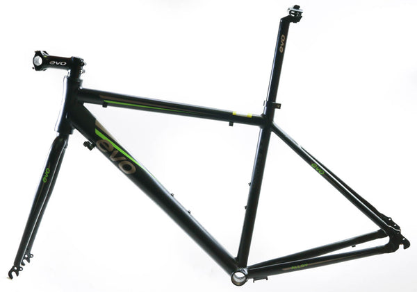 EVO Vantage 5.0 58cm X-Large Aluminum Road Bike Frameset Fork + Extras Black NEW