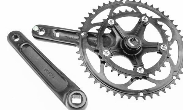 Aluminum Compact 7/8 Speed Road Bike Square Taper Crankset + BB 175mm 50/34T NEW
