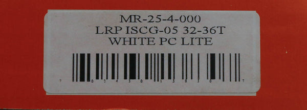 MRP LRP Party Crasher 32 - 36T ISCG-05 PC Lite White Chain Guide Bash Ring NEW