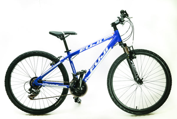 "Fuji Adventure 17"" Youth / Men's 26"" Hardtail MTB Bike Shimano 3 x 7s Blue NEW"
