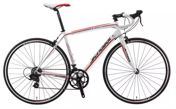Sundeal R7 50cm Road 700c Bike 6061 Alloy Frame Shimano Tourney 2 x 7s White NEW