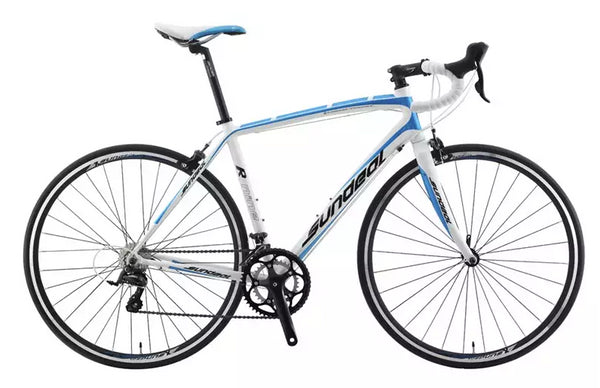 Sundeal R9 50cm Road 700c Bike 6061 Alloy Frame Shimano Sora 2 x 9s Blue NEW