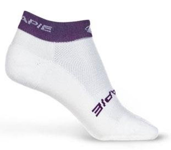 "Lot of 3 HINCAPIE POWER SOCK Cycling Large Lg 1"" Cuff Low Cut Unisex White NEW"