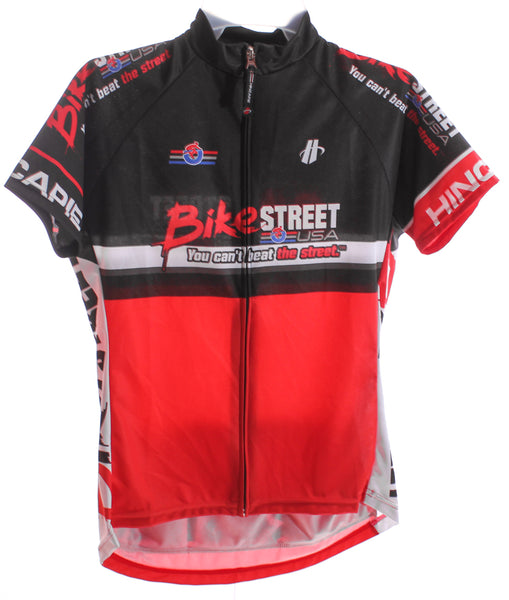 HINCAPIE AXIS CLUB Women's Cycling Jersey XL Short Sleeve Red/Black BIKE ST NEW