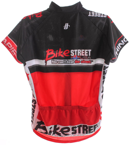 HINCAPIE AXIS CLUB Women's Cycling Jersey Lg Short Sleeve Red/Black BIKE ST NEW