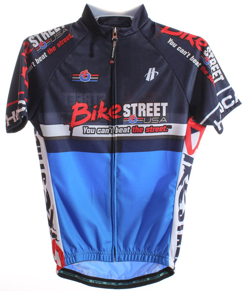 HINCAPIE AXIS Women's Cycling Jersey XS Short Sleeve Blue/Navy BIKE STREET NEW