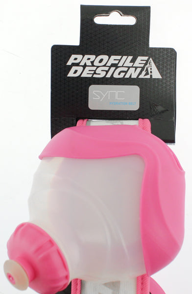 PROFILE DESIGN SYNC Hydration System White/Pink 2 Bottles With Belt Small NEW