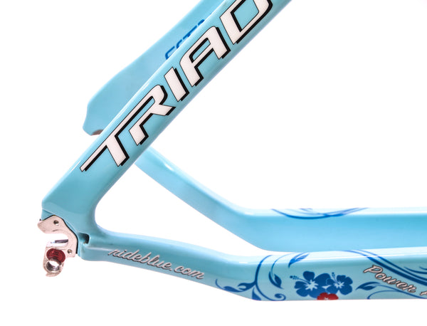 Blue Triad EX Carbon 57.5cm Women's Triathlon / TT Bike Frame Fork 700c NEW