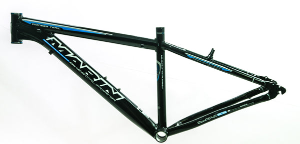 "13"" MARIN PIONEER TRAIL 26"" Alloy Hardtail MTB Bike Frame Disc Black/Blue NEW"