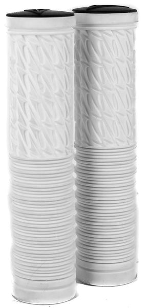 Avenir Lock On Half-n-Half MTB Bike Handlebar Grips 135mm 22.2mm White NEW