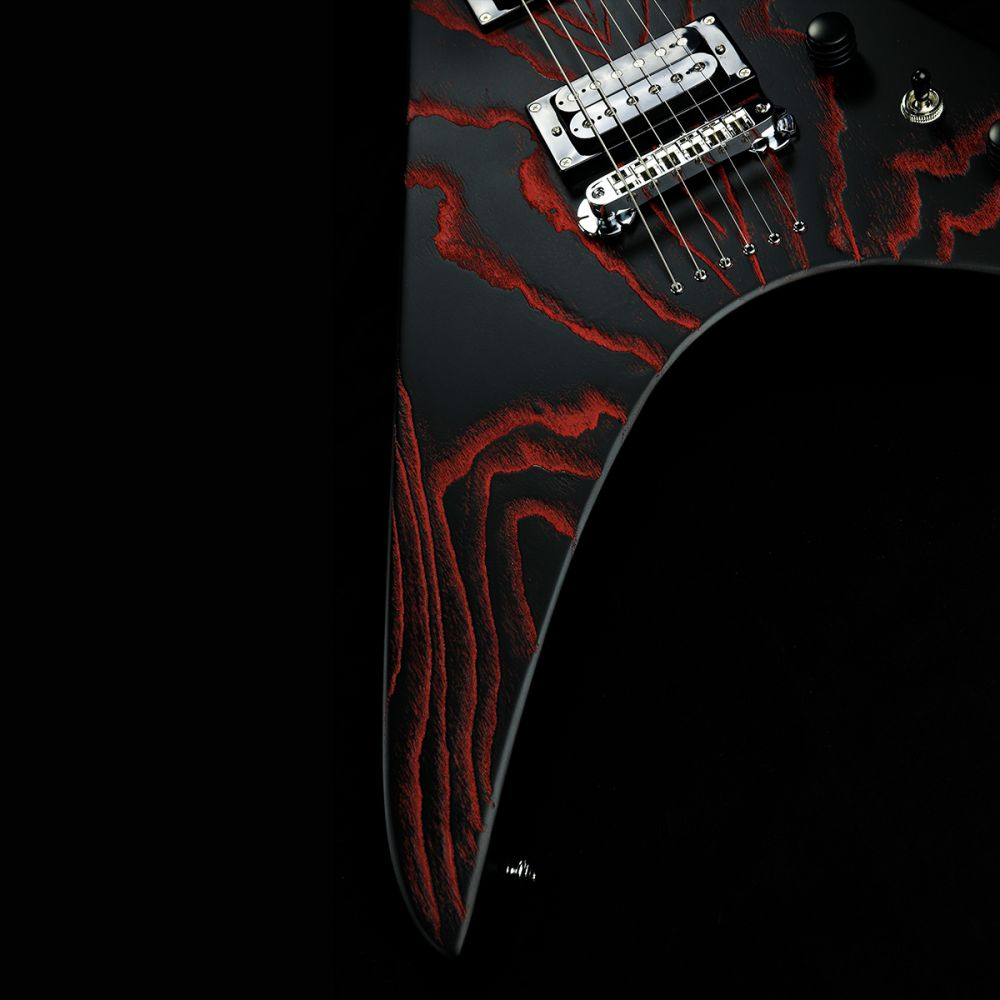 Zemaitis ZVWA22 Sandblasted Ash Black/Red