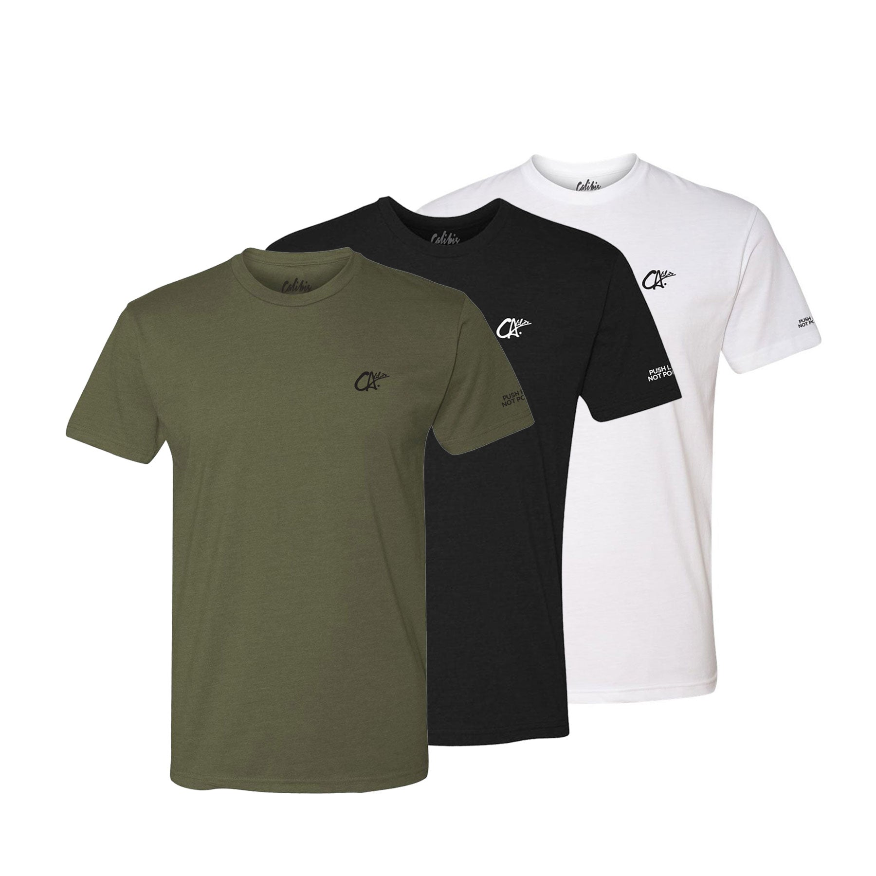 (3) Pack Logo Premium Tee by Calibis Clothing