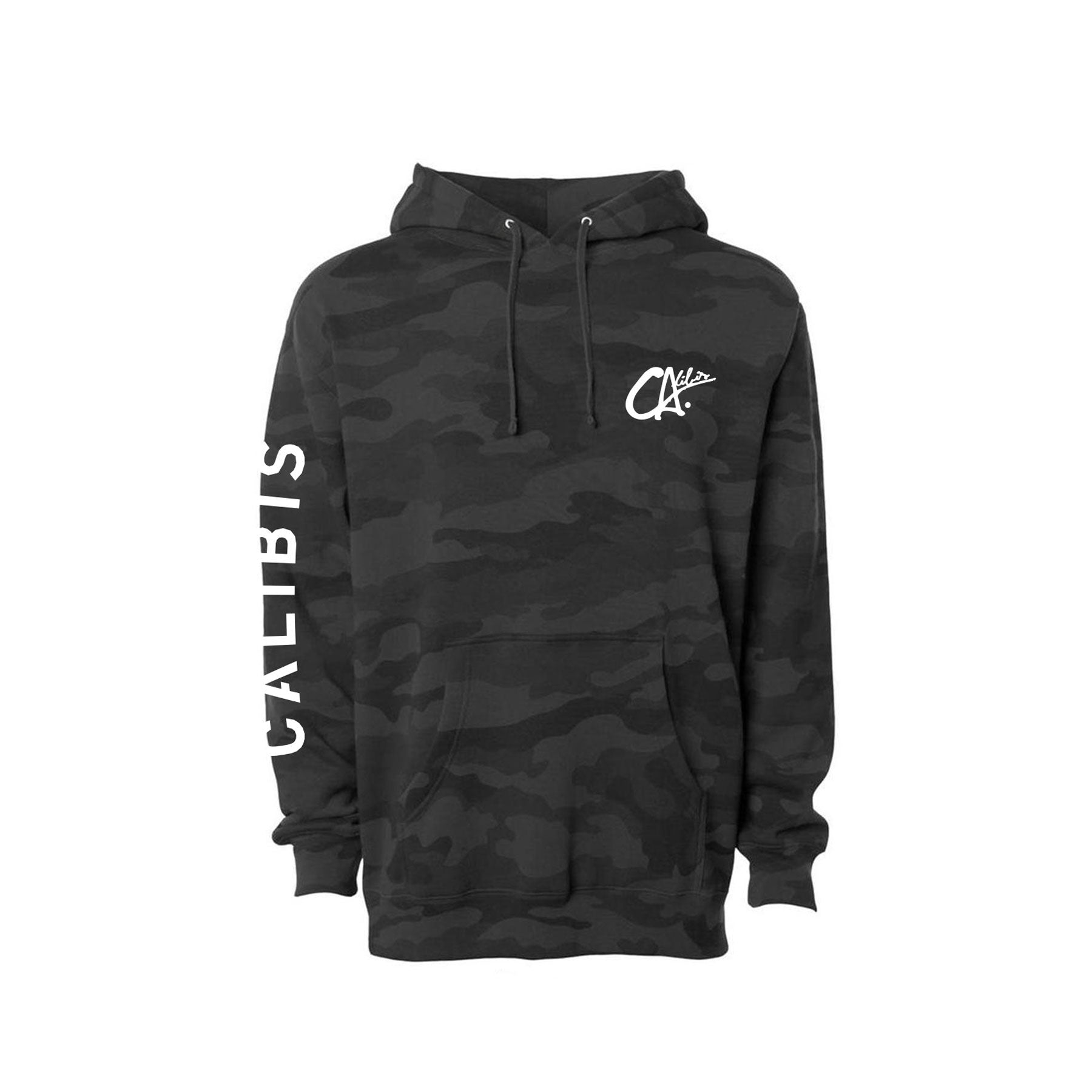 Logo Blacked Camo Hoodie by Calibis Clothing