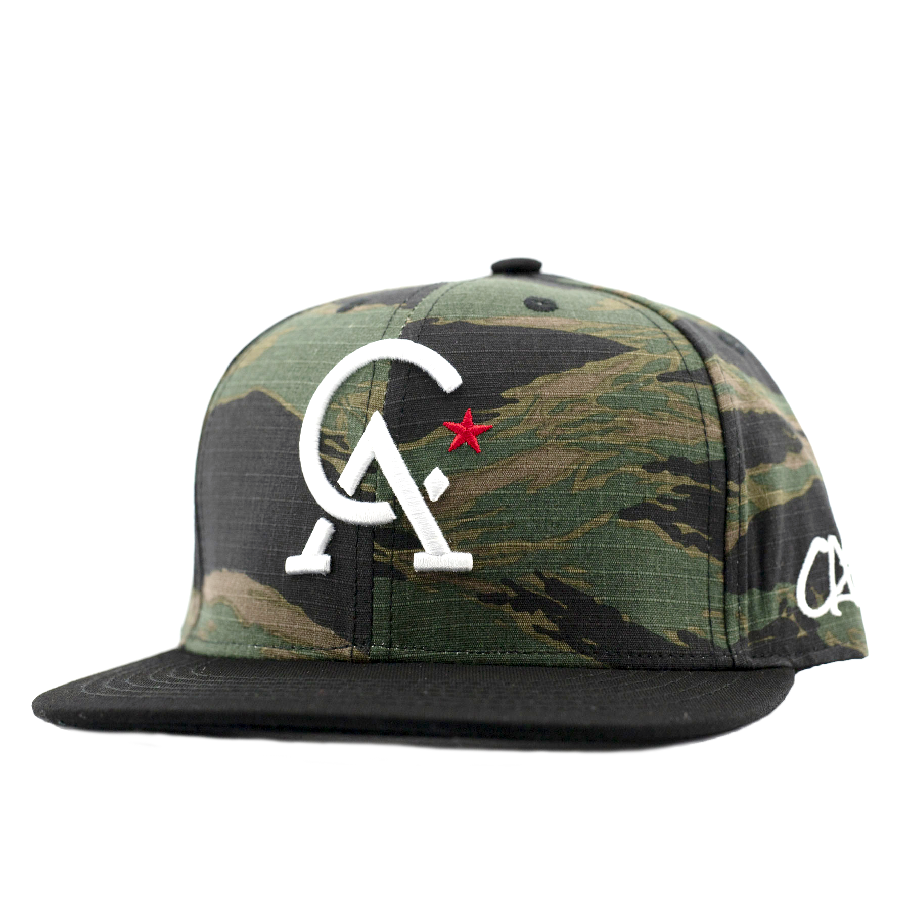 Initial Cal Tiger Camo Snapback by Calibis Clothing