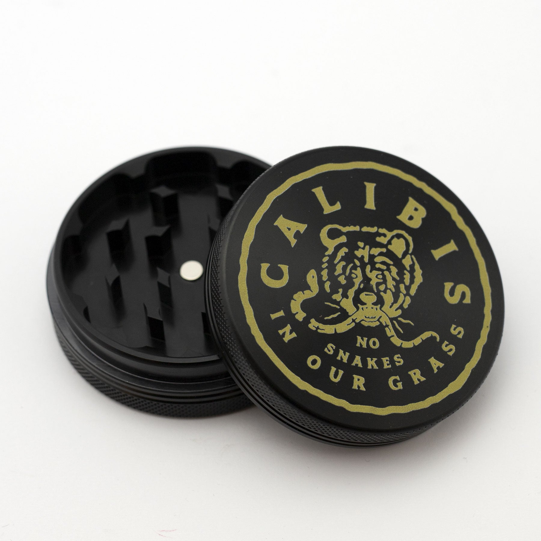 No snakes 2 Part Aluminum Grinder by Calibis Clothing