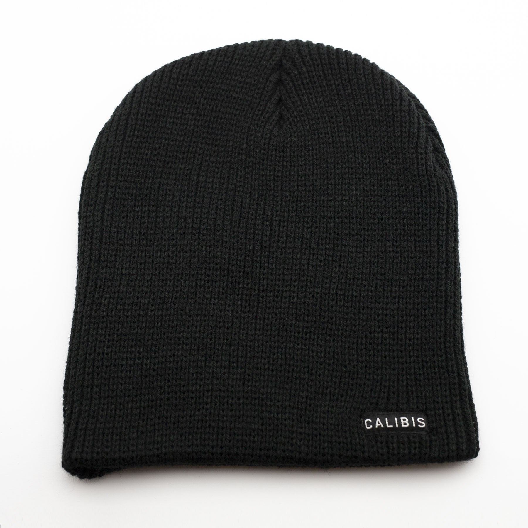 Black Slouchy Beanie by Calibis Clothing