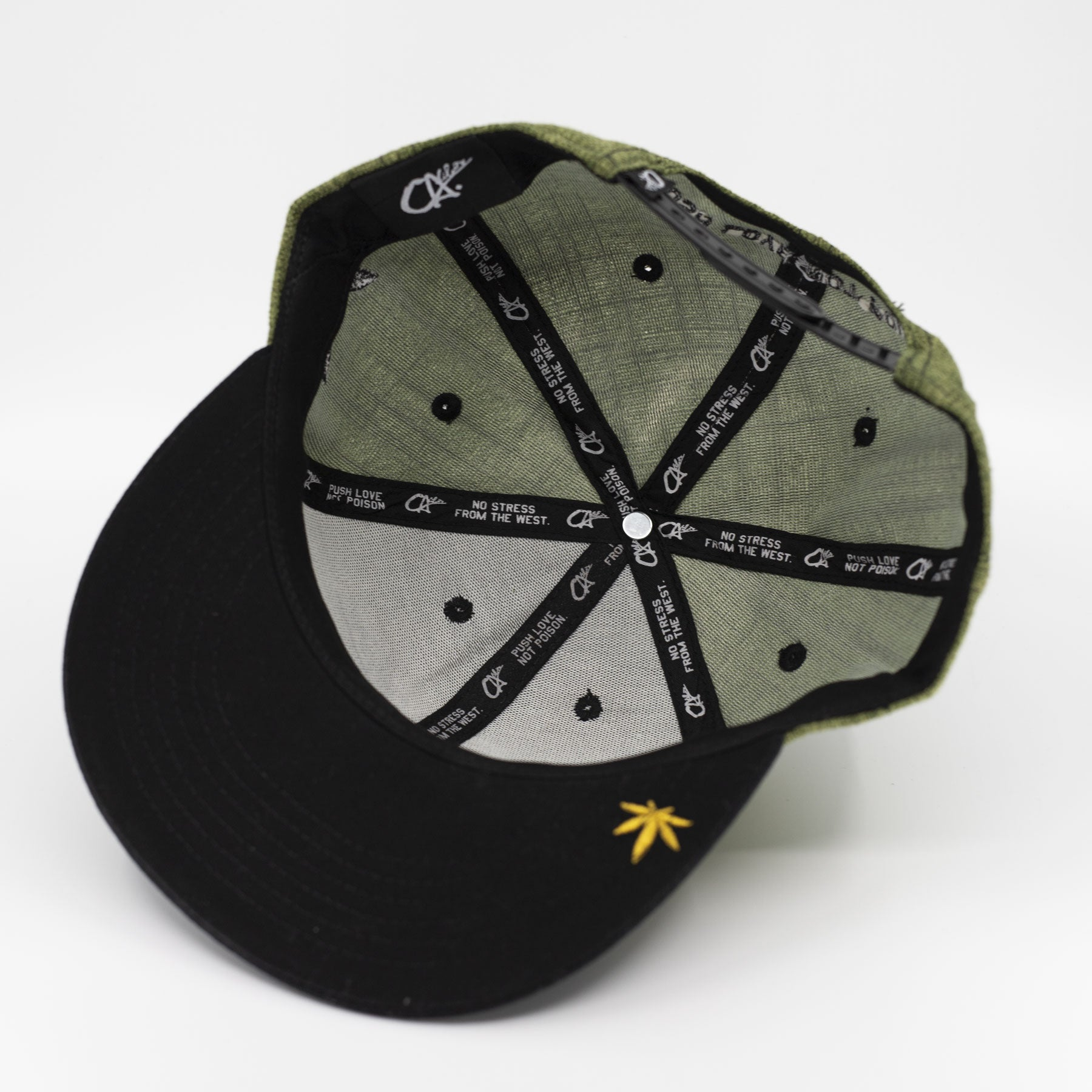 Logo Military Fabric Snapback by Calibis Clothing