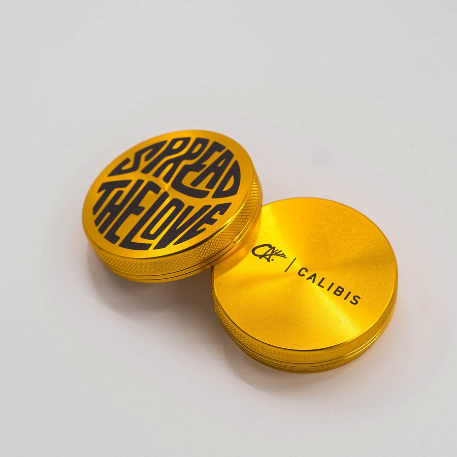 Spread The Love 2 Part Aluminum Grinder by Calibis Clothing