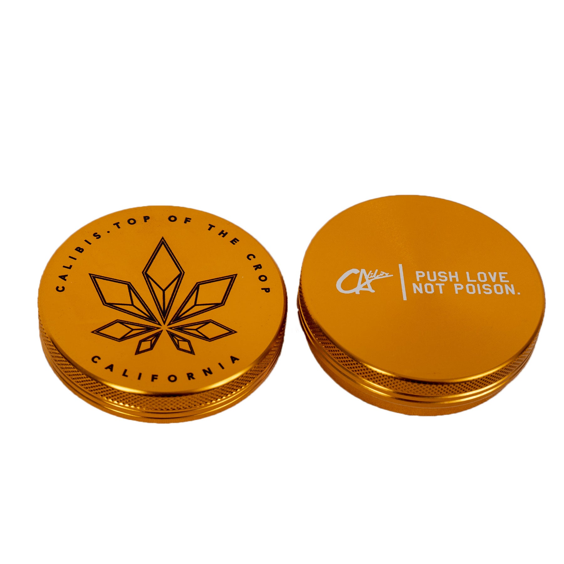 Topped 2 Part Aluminum Grinder by Calibis Clothing