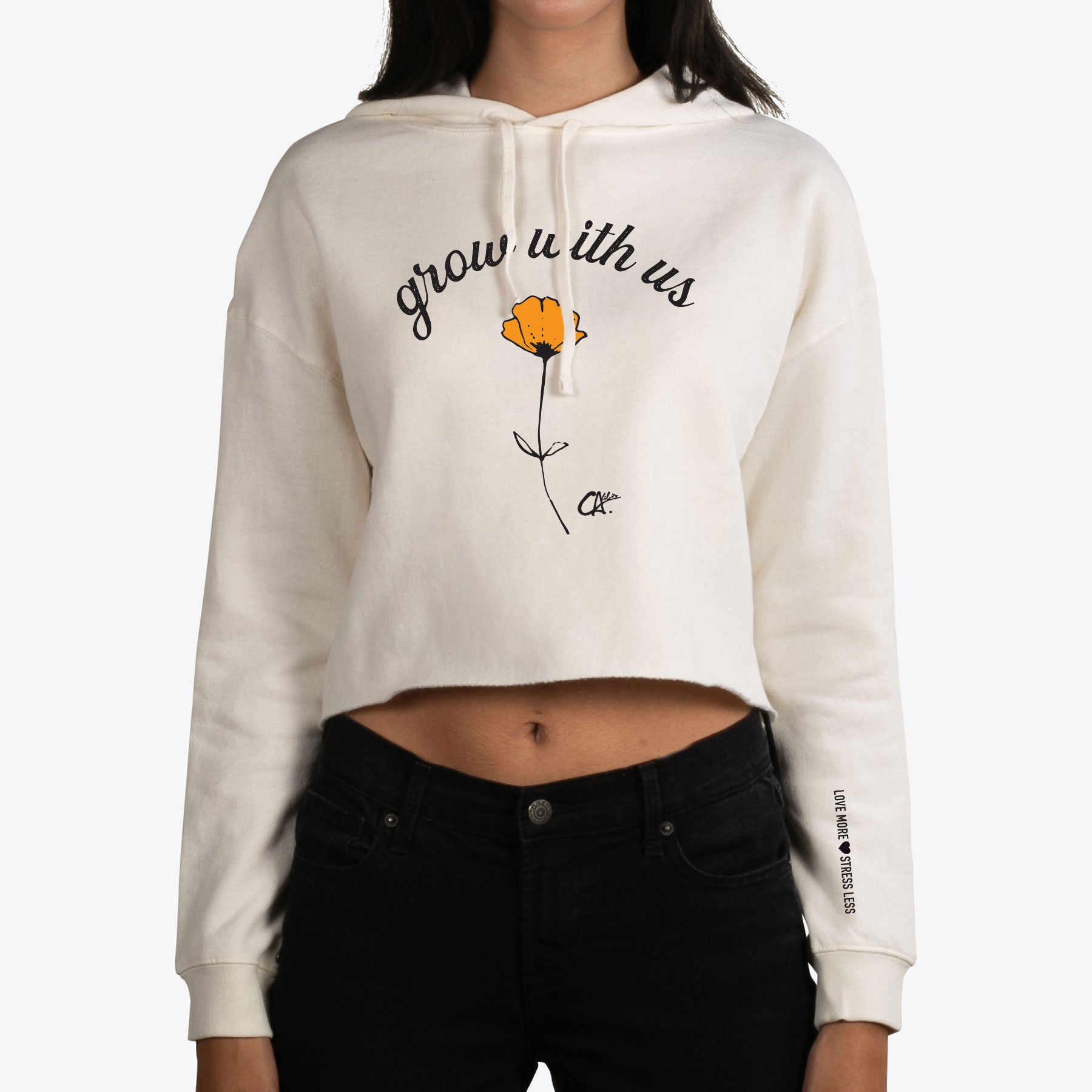 Grow with Us Crop Hoodie by Calibis Clothing