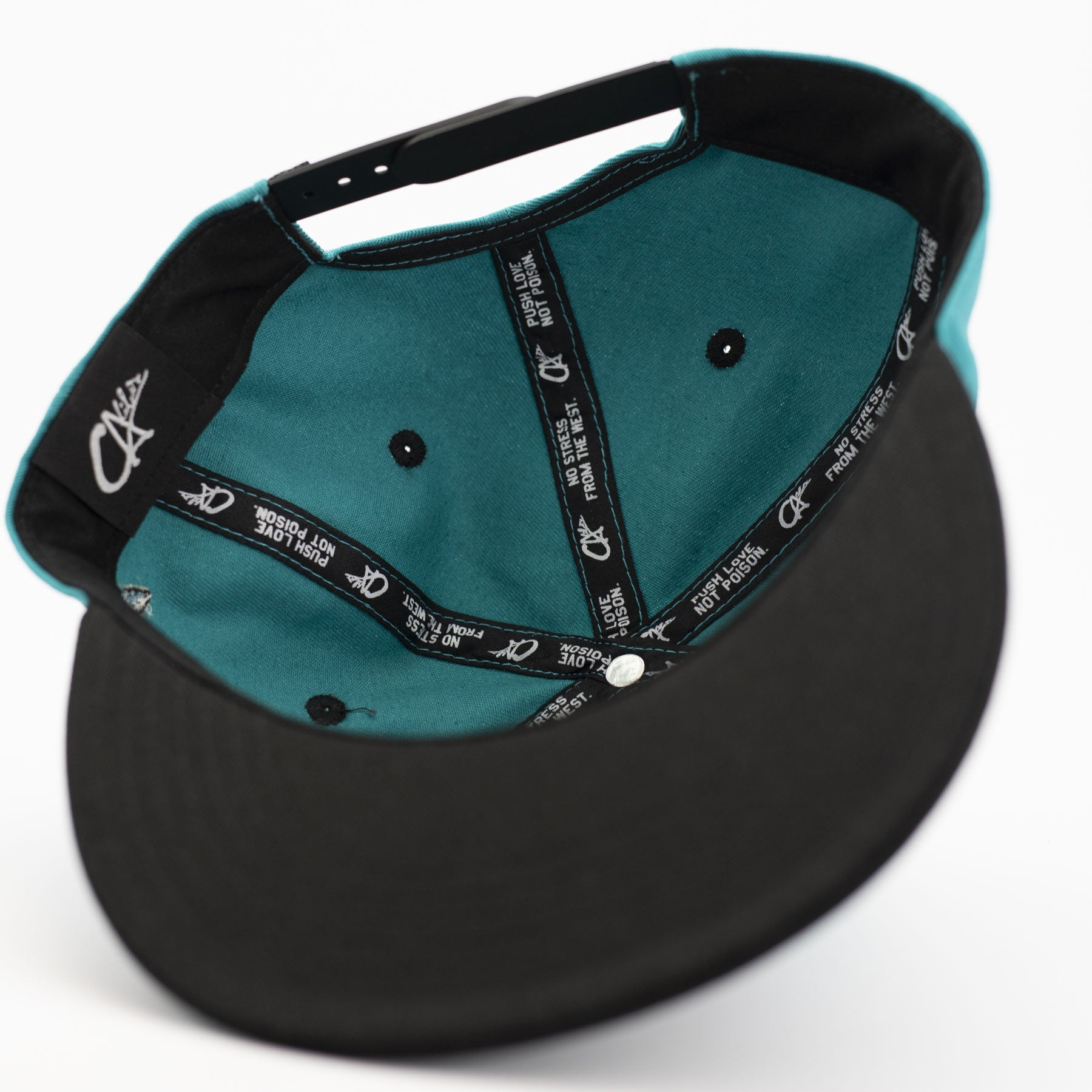 Worldwide Teal Snapback by Calibis Clothing