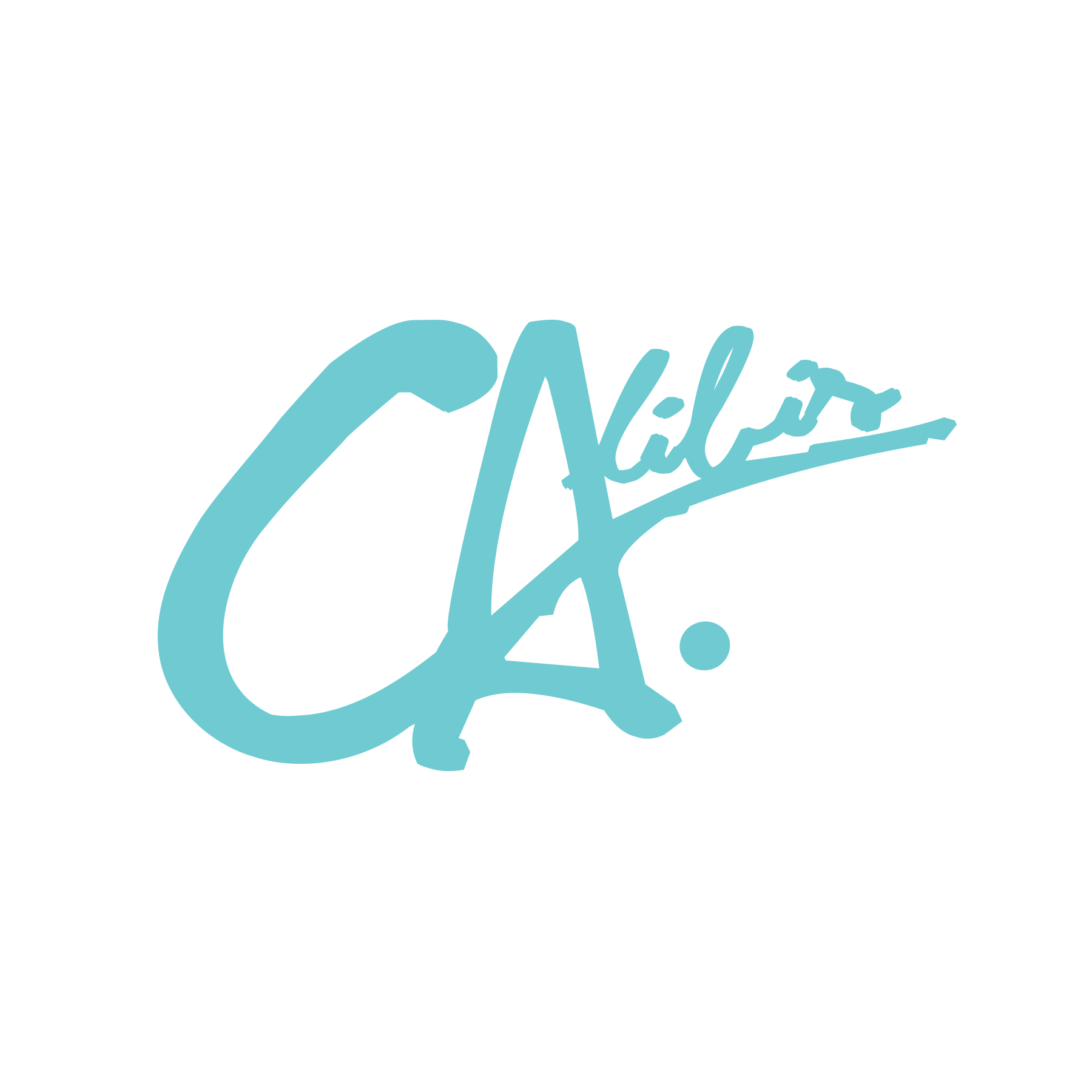 Logo Mint Blue Decal by Calibis Clothing