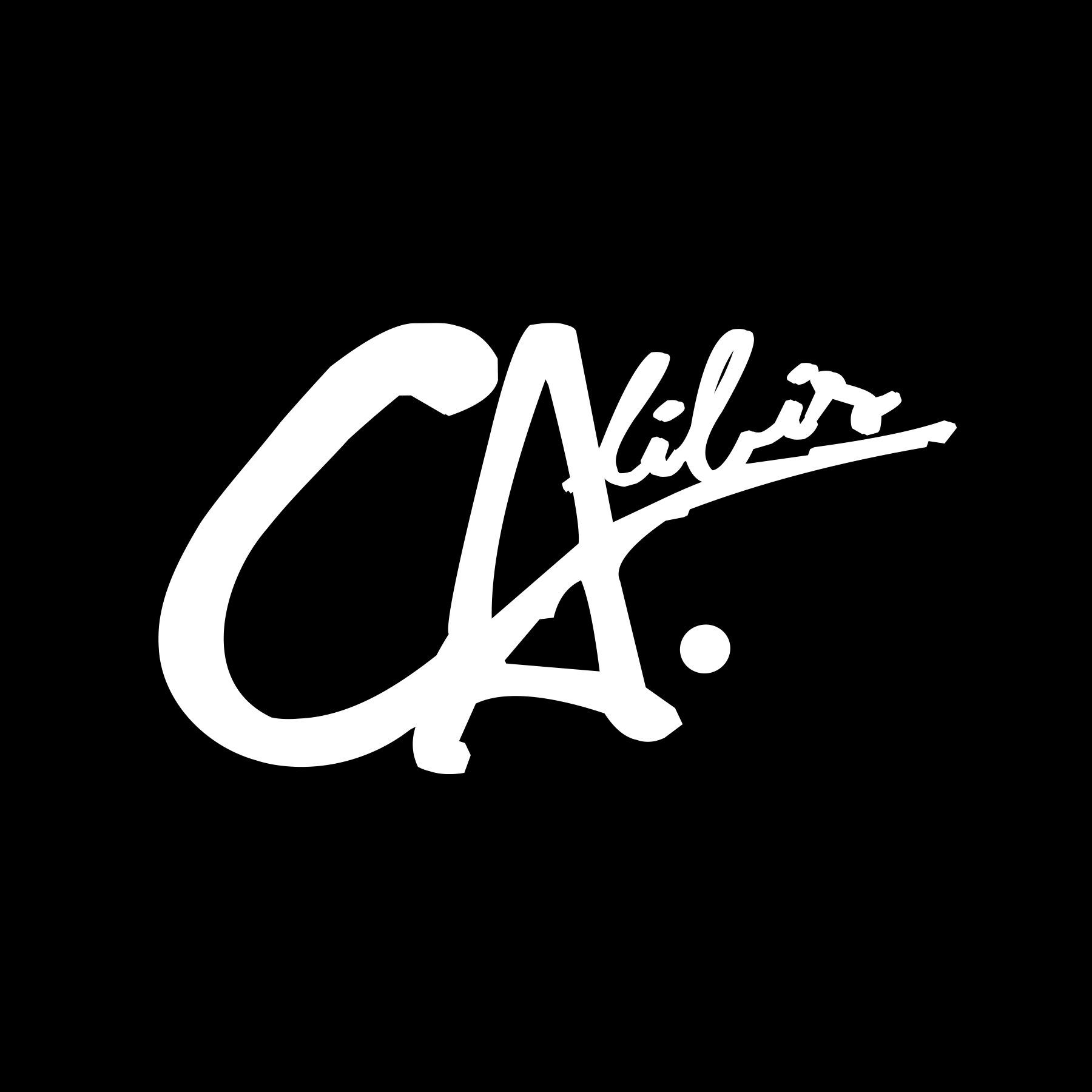 Calibis White Decal by Calibis Clothing