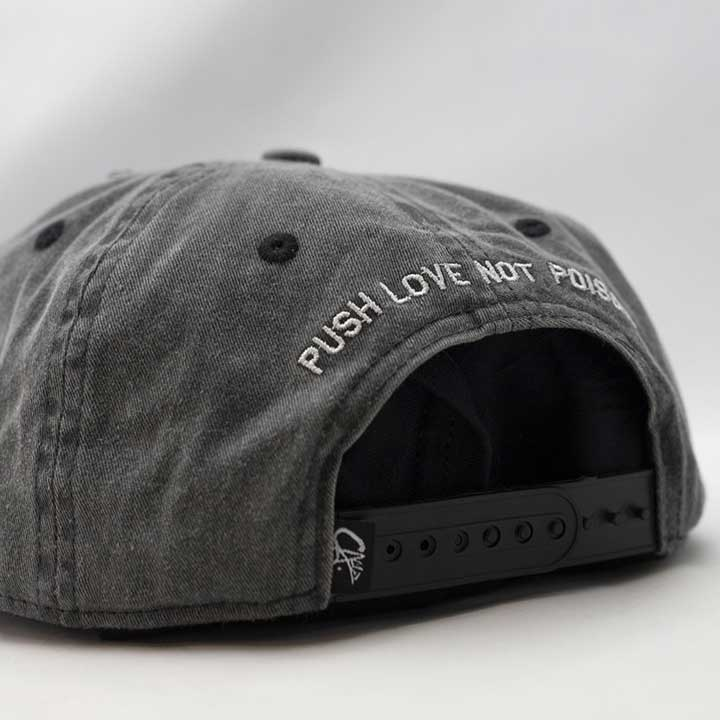 Concrete 5 Panel Snapback by Calibis Clothing