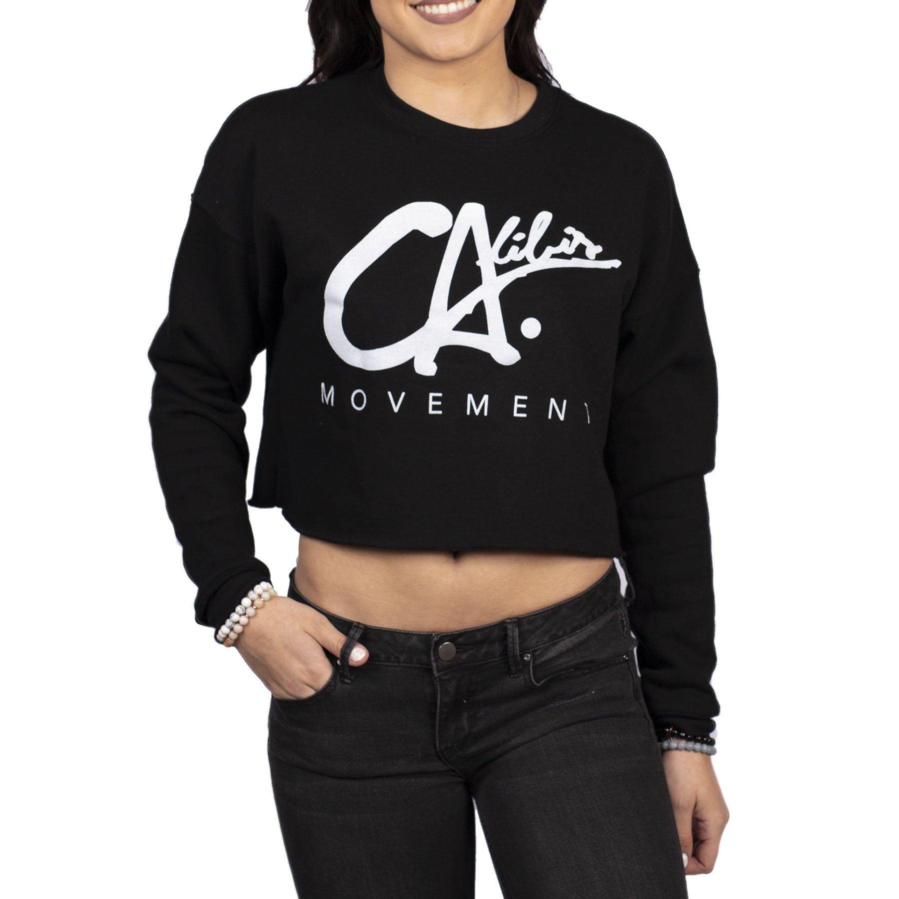 Logo Crop Crewneck by Calibis Clothing