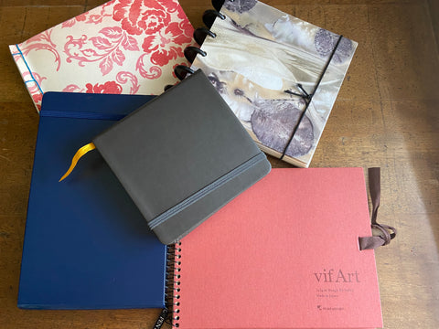 my collection of sketchbooks