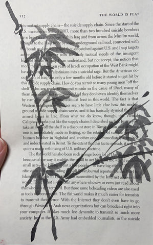 bamboo painted on book page