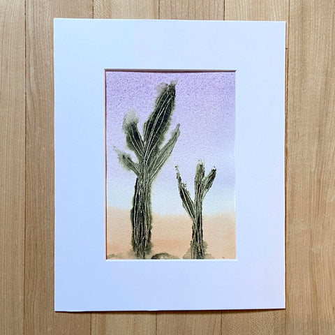 Desert Collection - Pair of Saguaro in mat