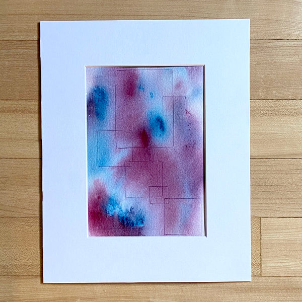 Purple Collection - Purple Squares in white mat