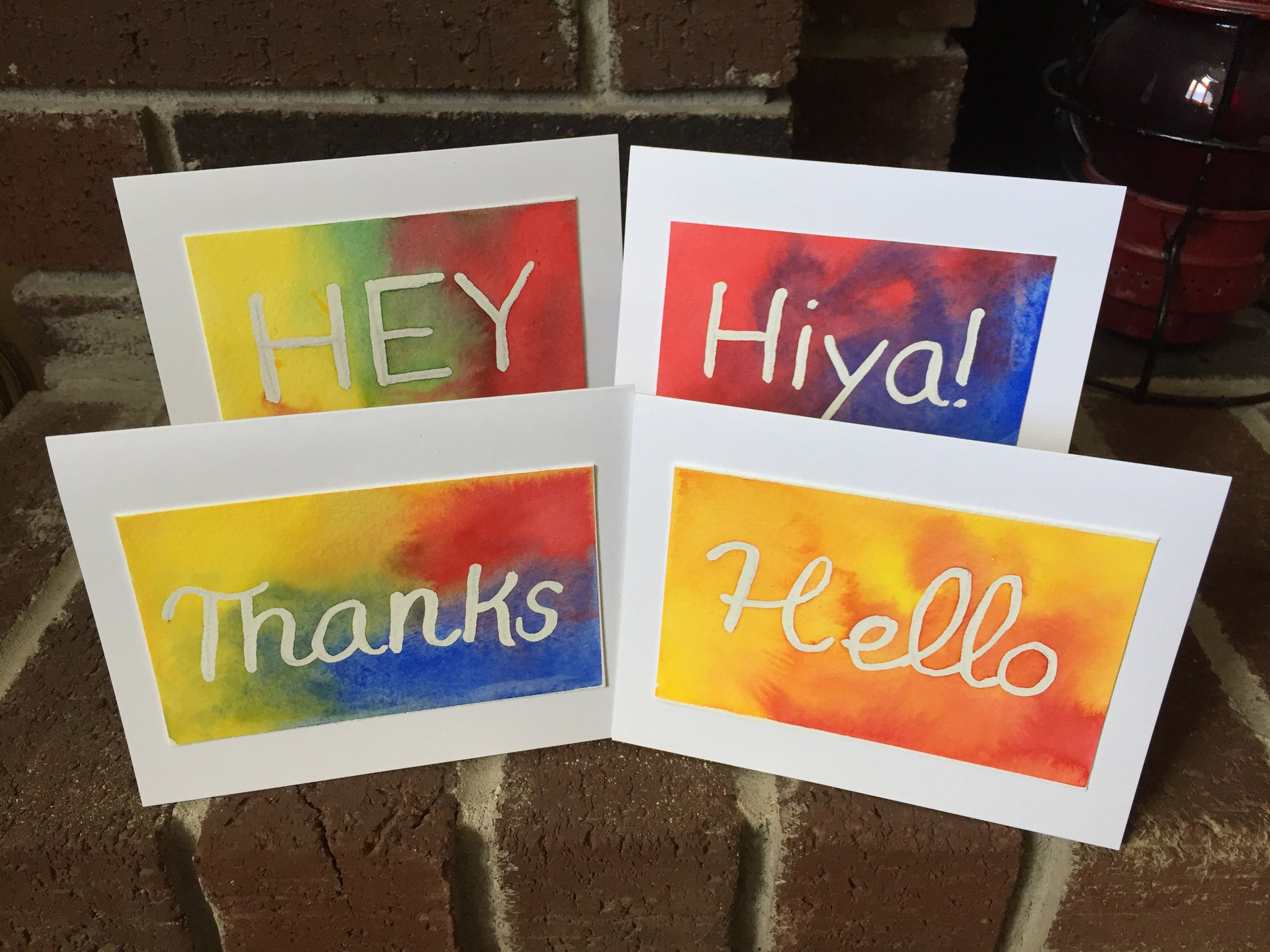 Tie Dye Watercolor Cards Course