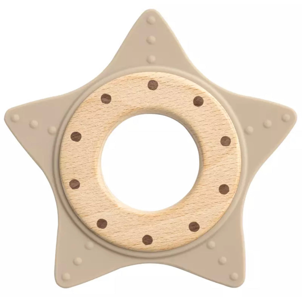 Star Teether Taupe