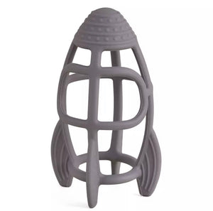 Space Rocket Teether Pebble Grey
