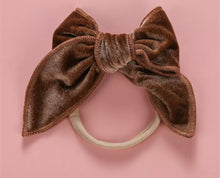 Load image into Gallery viewer, Alice Velour Bow Headbands