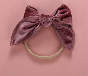 Alice Velour Bow Headbands