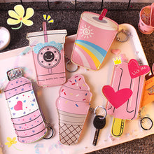 Load image into Gallery viewer, Vacclo Ice-cream Food Shape PU Coin Purse Portable Card Key Earphone Creative Storage Bags Pink Girl Gadgets Travel Organizer
