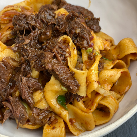 Sichuan Braised Short Ribs & Egg Noodles