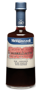 Mengazzoli Raw Unfiltered Red Wine Vinegar with the Mother (.5 L)