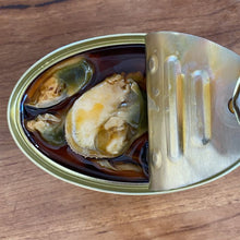 "Load image into Gallery viewer, Yurrita ""Mejillones"" Mussels in Pickled Sauce (110g Tin)"