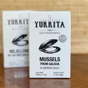 "Yurrita ""Mejillones"" Mussels in Pickled Sauce (110g Tin)"