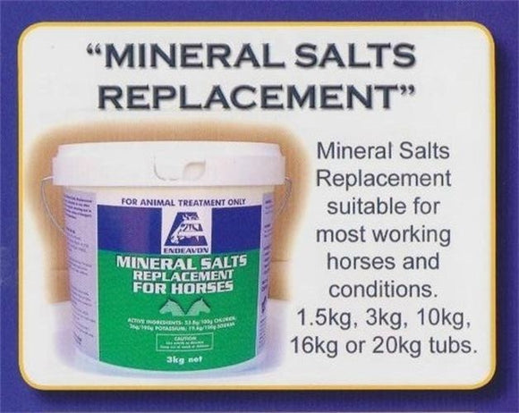 End Mineral Salts Replacement