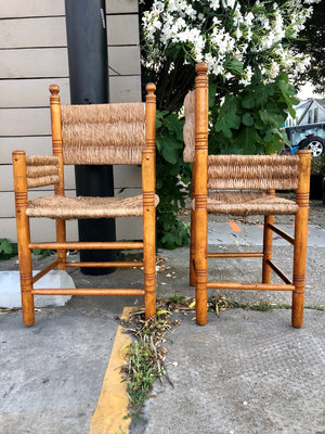 Maple and Rush Straightback Chairs