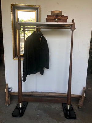 Refined Industrial Coat Rack