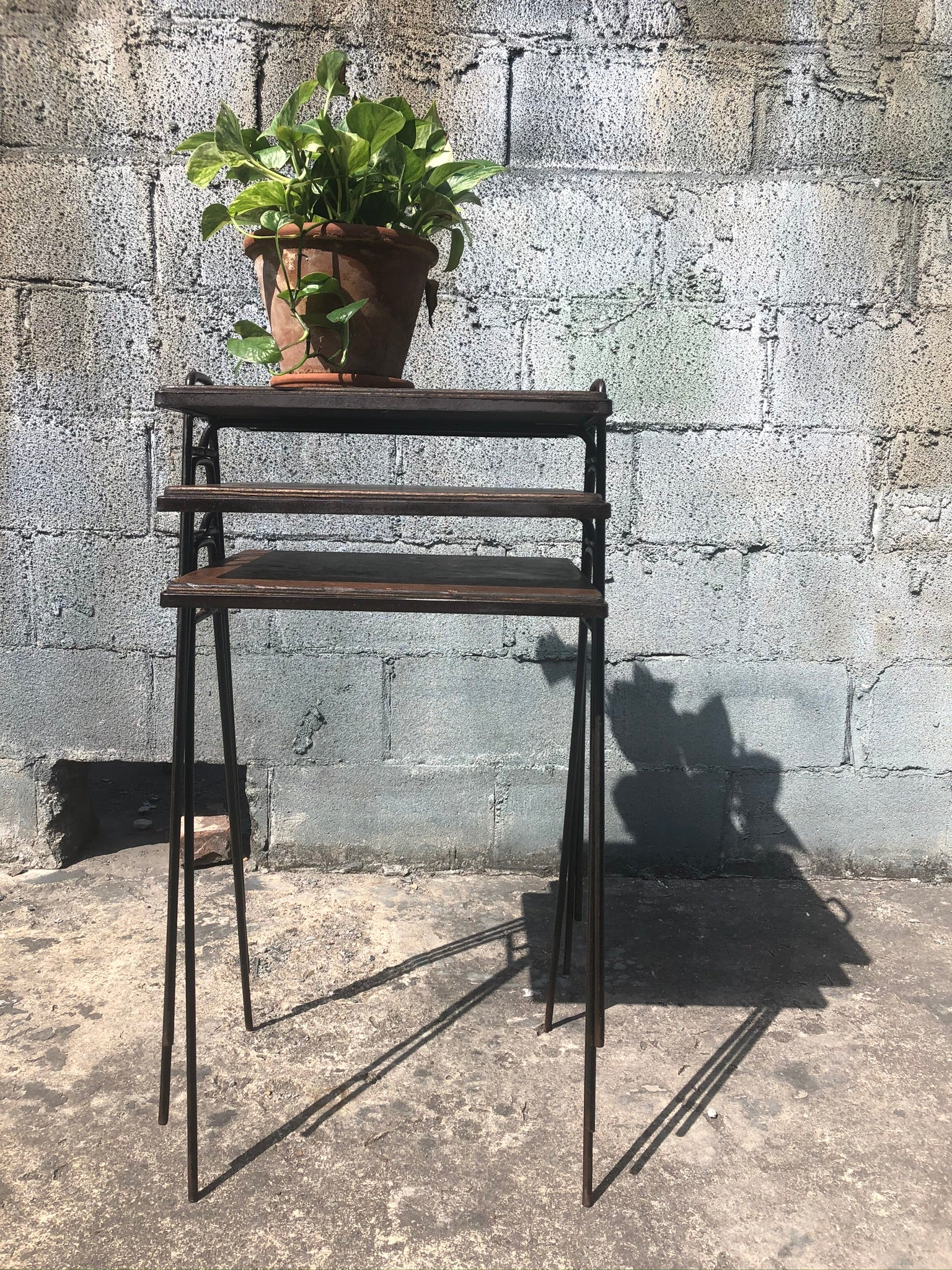 Wrought Iron Stacking Trays