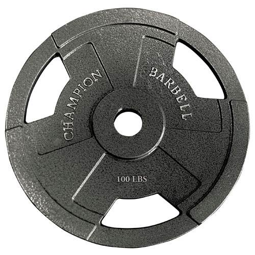 Champion Barbell Olympic Grip Plates 100 lb. - Givhony