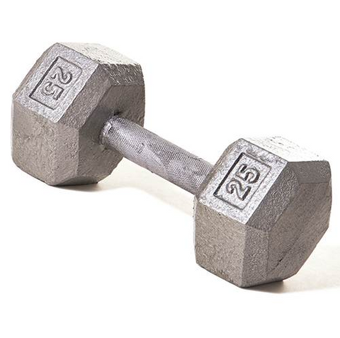 Champion Barbell 25lb Solid Hex Dumbbells - Givhony